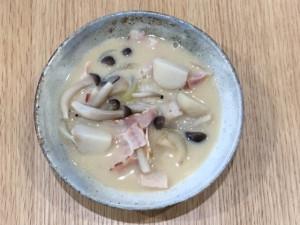 ベーコンと里芋の洋風みそ汁